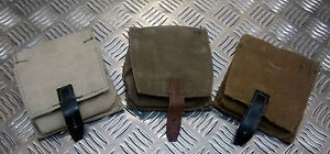 Genuine-Russian-Army-Vintage-Canvas-Grenade-Pouch-W-Belt-Loops-Kh-Blk-NEW