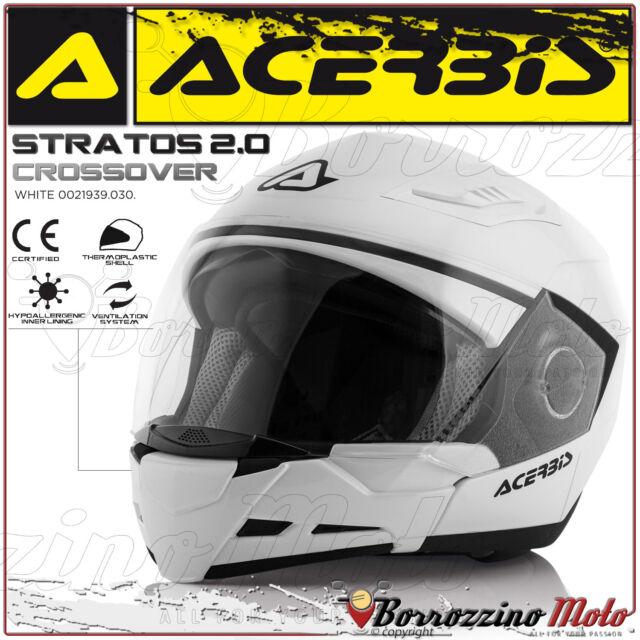 CASCO MOTO SCOOTER ACERBIS STRATOS 2.0 CROSSOVER JET/INTEGRALE MONO BIANCO TG. S