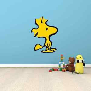 Woodstock Snoopy Funny Cartoon Kids Room Wall Decor Sticker Decal ...