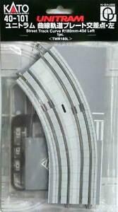 Kato-40-101-UniTram-Rail-Courbe-Gauche-Curve-Track-Left-R180mm-45-N