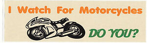Motorcycle-Awareness-Bumper-Sticker-034-I-Watch-For-Motorcycles-Do-You-034