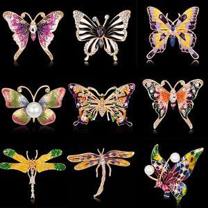 Fashion-Crystal-Rhinestone-Butterfly-Dragonfly-Brooch-Pin-Wedding-Bride-Bouquet