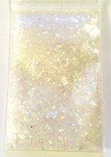 Glitter (.035) White Iridescent Fairy Dust 5g Nail Craft Wine Art Scrap Card