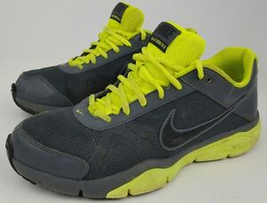 Nike Men's Size 8 Dual Fusion TR III Gray Neon Athletic Running Shoes 512109-003