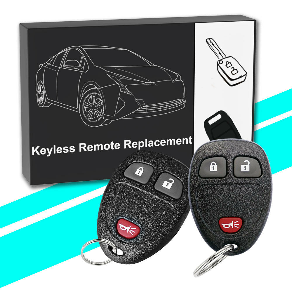 2 for Chevrolet Silverado 2007 2008 2009 2010 Keyless Entry Remote Car Key Fob