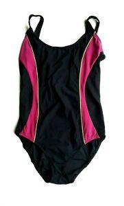 Details about Ex M&S Ladies Swimsuit Size 12 14 Swimming Costume Slimming Beachwear BlackPink