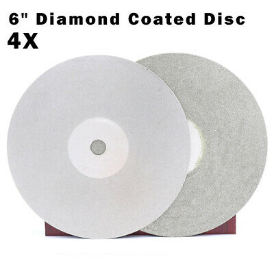 4pcs 6 Inch 600//800//1200//3000 Grit Flat Lap Wheel Lapping Grinding Disc