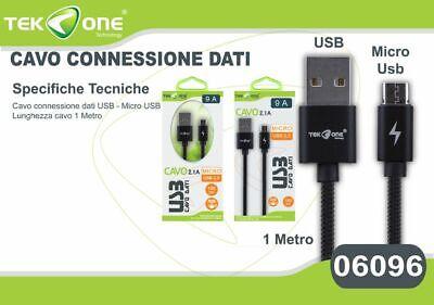 Cavo Dati Usb Tekone 6a Piatto Connettore Microusb Micro Usb 1mt Smartphone Hsb Per Godere Di Alta Reputazione A Casa E All'Estero
