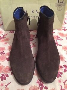 Zip Brutass Baker Brown Lather Detail Rrp £ Buckle Uk Up Ted Boot 8 Suede 140 0wB5ppq