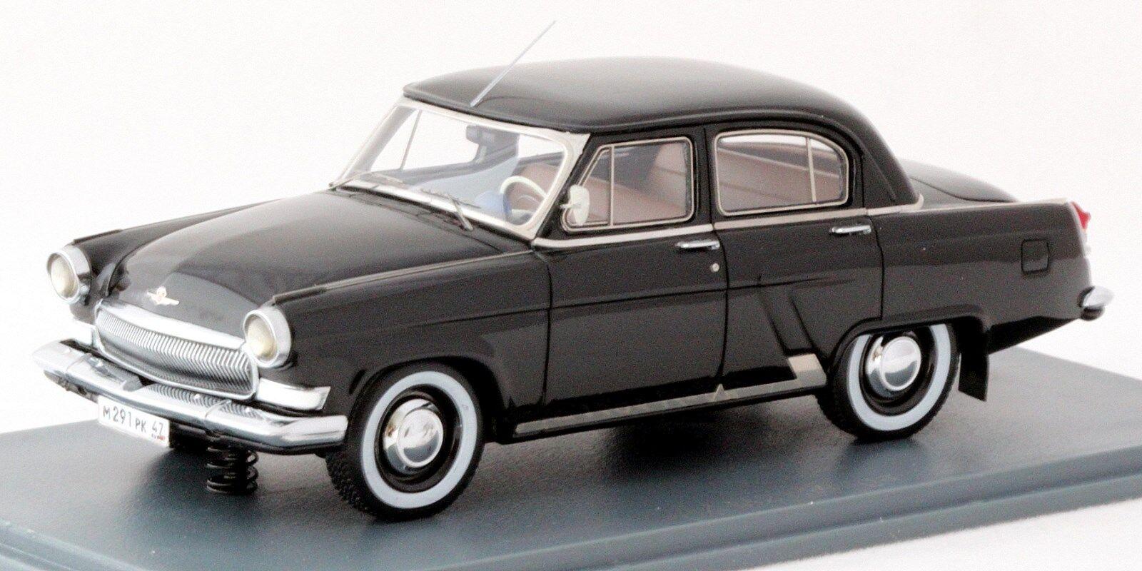 NEO SCALE MODELS échelle 1 43 44291 GAZ M21 Volga berline noir CCCP URSS Neuf dans sa boîte