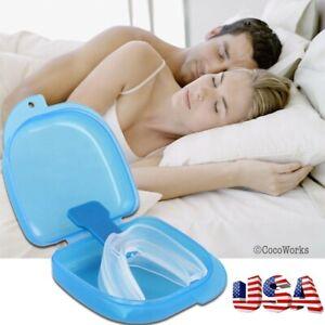 Anti-Snore-Stop-Snoring-Mouth-Device-Guard-Good-Sleep-Aid-No-Apnea-Silicon