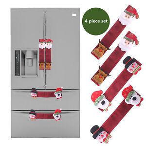 3Pcs-Set-Christmas-Snowman-Kitchen-Appliance-Refrigerator-Handle-Door-Covers