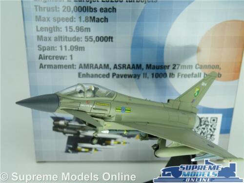 EUROFIGHTER TYPHOON MODEL AIRPLANE AIRCRAFT 1:100 SCALE 2008 RAF ROYAL AIR F2 K8