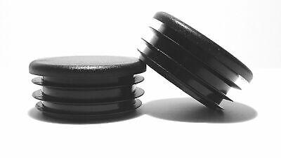 43mm-10pcs Round Plastic Black Blanking End Cap Caps Tube Pipe Inserts Plug