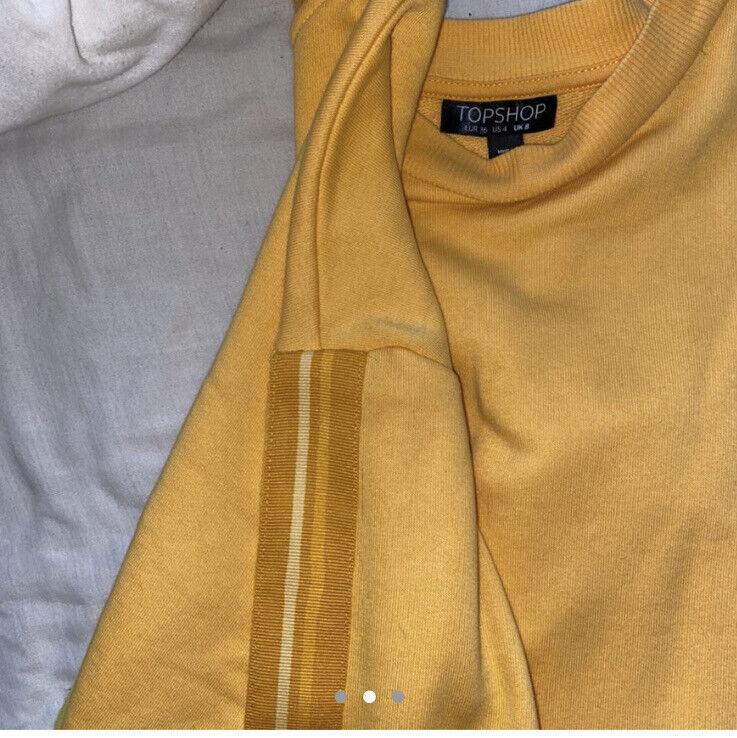 Ladies Topshop Bright Orange Oversized Sweatshirt Size 8