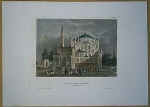 1844-Meyer-print-SULTAN-SELIM-039-S-MOSQUE-ISTANBUL-TURKEY-20