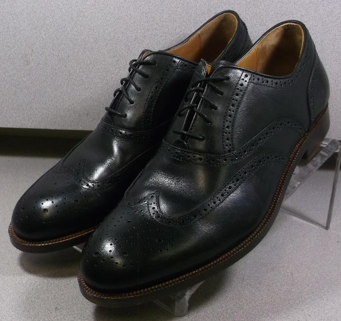 151025 MS50 Men's Shoes Size 12 M Black Leather Lace Up Johnston & Murphy