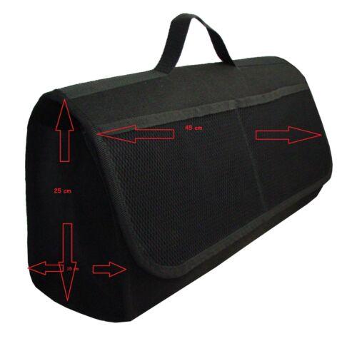 Praktische Kofferraumtasche in Schwarz groß passend für Hyundai Kona.