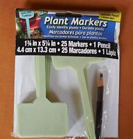 50 Durable Plastic 5 Plant Markers W 2 Pens. Iris, Roses, Name Tags For Plants