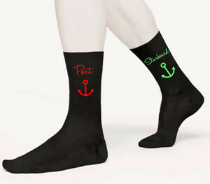 Port-Starboard-Novelty-Men-039-s-Socks-Captain-Crew-Boat-Fathers-Day-Birthday-Gift