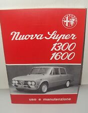 Uso e manutenzione Alfa Romeo Giulia Nuova S use and maintenance owner's manual-