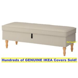 Pleasing Details About Ikea Stocksund Bench Footstool Ottoman Cover Slipcover Nolhaga Light Beige New Ocoug Best Dining Table And Chair Ideas Images Ocougorg