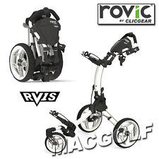 Clicgear Rovic RV1S 3-Rad Golf Trolley in Arctic Weiss / Weiss Ausführung.