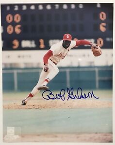 BOB-GIBSON-signed-photo-autograph-ST-LOUIS-CARDINALS