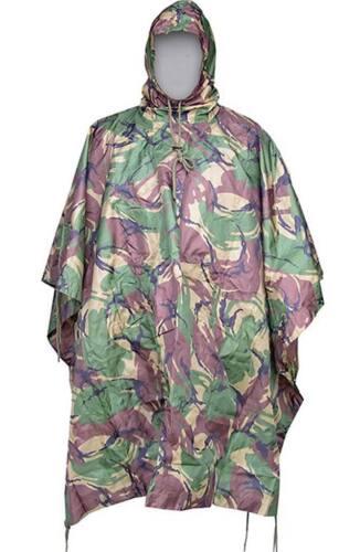 Poncho lluvia camuflaje DPM britanico ingles caza impermeable airsoft