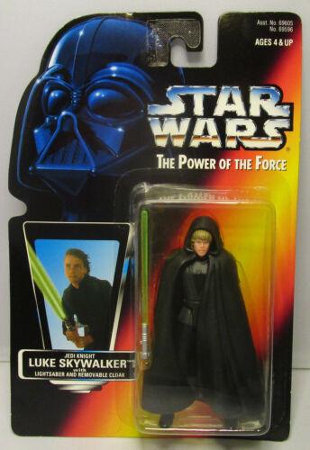 1996  Kenner Star Wars Luke Jedi Knight POTF 2 Red Card New /& Sealed Figure MOC