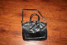 COACH Black Leather Madison Shoulder Cross body Bag 18641