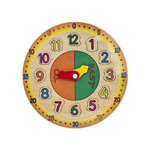 Kids 28cm Wooden Jigsaw Puzzle Clock - Childrens Large ...
