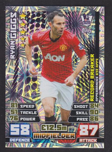 Match attax 2014//2015-record disjoncteur 431 Ryan Giggs-Manchester United