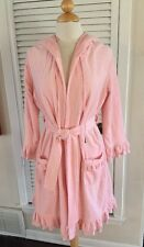 Juicy Couture Pink Short Hooded Bath Robe Ruffles Cute Soft Terry Cloth