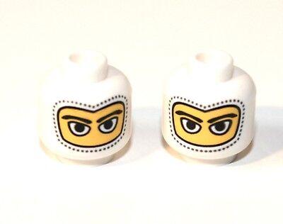 2x LEGO® Kopf mit Schnurrbart und gezacktem Kinnbart 3626bpx23 NEU Gelb