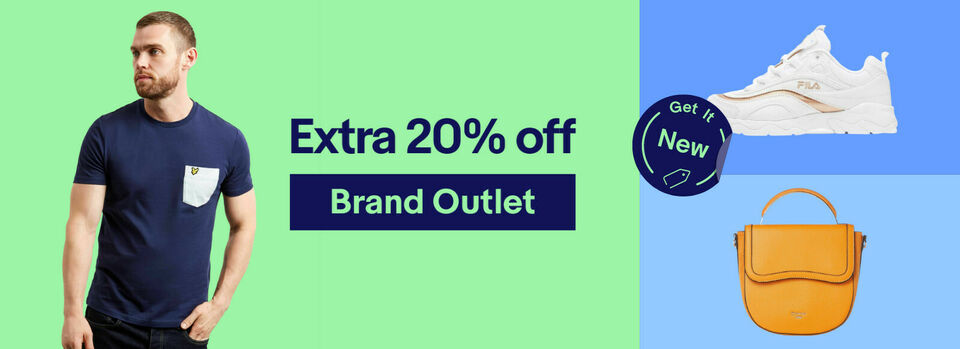 Shop now - It's on! Extra 20% off Brand Outlet