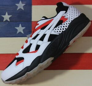 Asics-Tiger-Gel-Diablo-Running-shoes-White-Black-Happy-Chaos-Red-1A199001-New