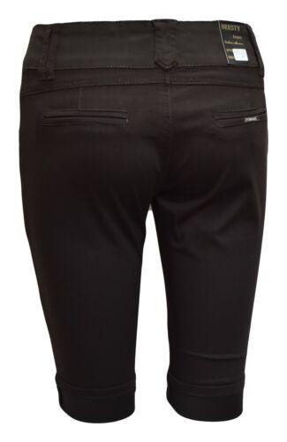 Femmes Jeans Style Short Chino Femmes Summer Bermuda Longueur Genou Filles Shorty