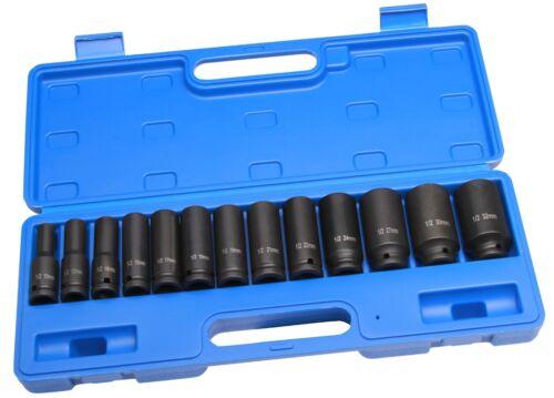 13 tlg Druckluft Schlagschrauber Sechskant Steckschlüssel Satz 10-32 mm