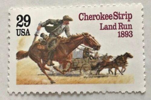 Cherokee Strip Land Run - Single Commemorative stamp - 1993 USPS MNH