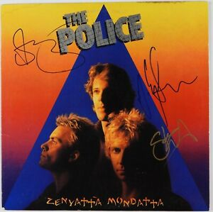 The-Police-Signed-Autograph-Record-JSA-Sting-Stewart-Copeland-Andy-Summers