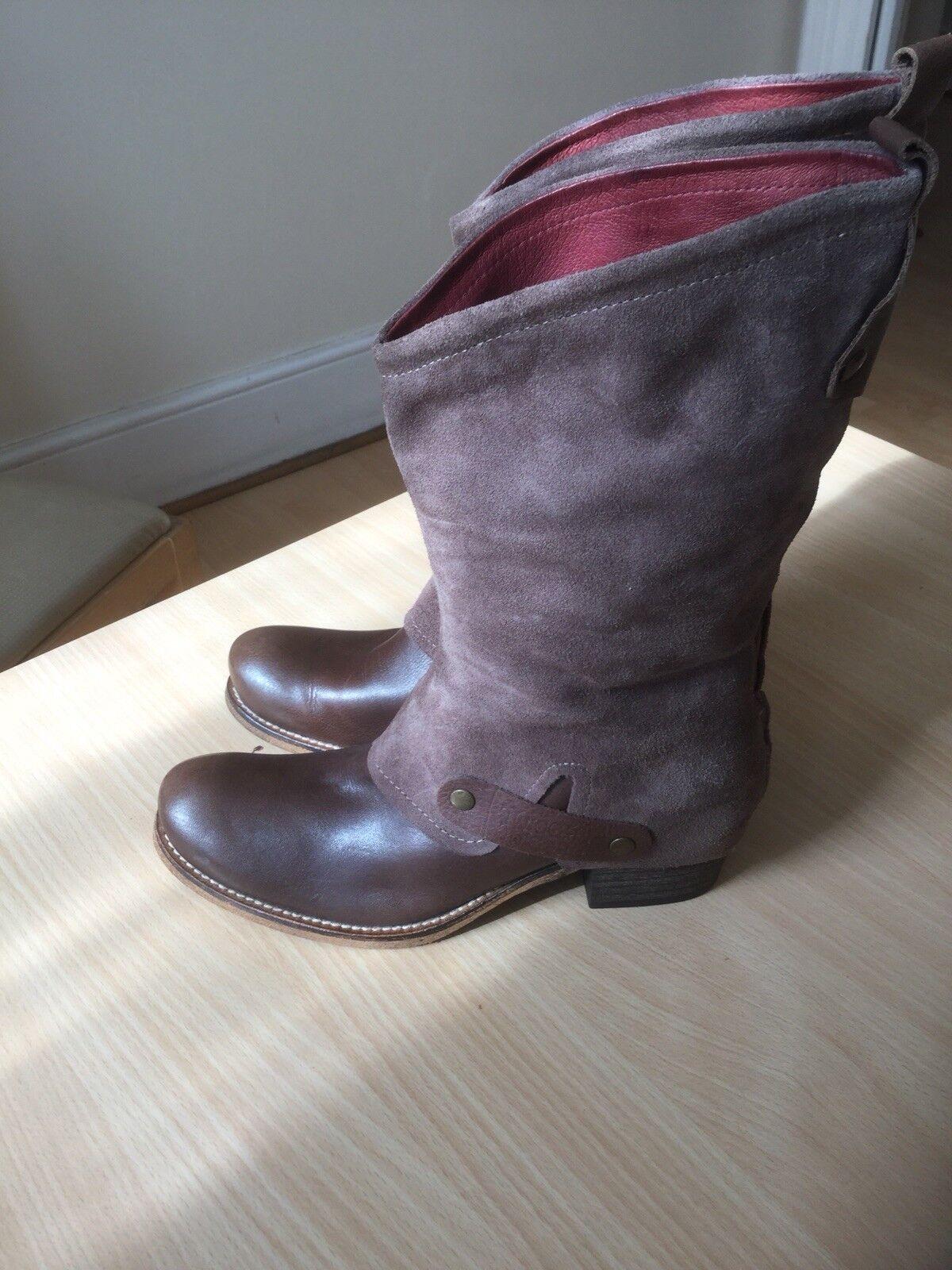 Braun Leder ankle boots Günstige und gute Schuhe