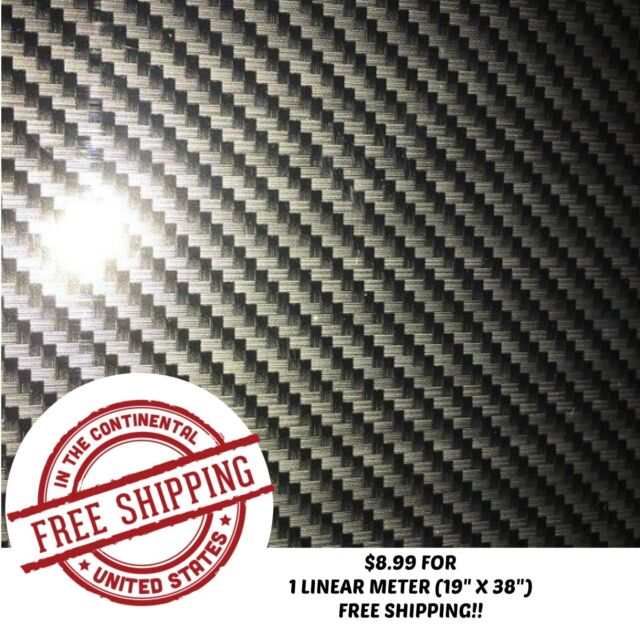 WATER TRANSFER HYDROGRAPHIC FILM HYDRO-DIPPING GOLD TRANSPARENT CARBON 1SQ