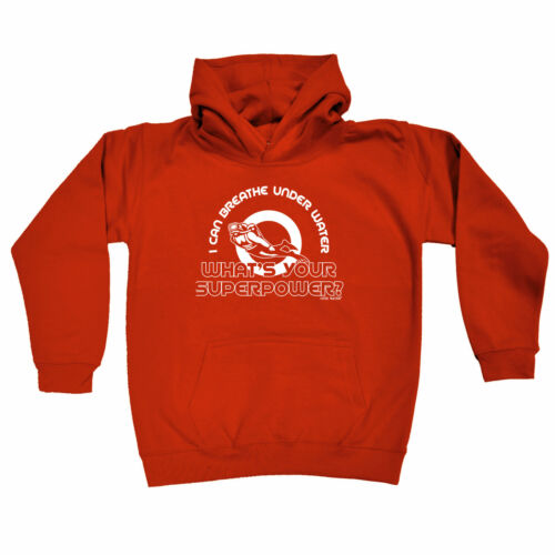 Scuba Diving Kids Childrens Hoodie Hoody Funny I Can Breathe Under Water Whats