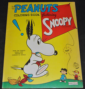 Image Is Loading Peanuts Coloring Book Featuring Snoopy Charles Schulz Saalfield