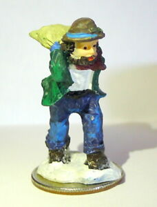"""Victorian Village Mini Miniature Man Carrying a Feed Sack  1 5/8"""" in  tall"""