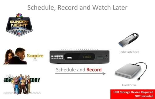Digital TV Converter Box View and Record Over the Air Channels w// HDMI Cable