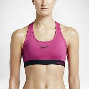 e7ea47add8 NWT Nike Pro Classic Padded Women s Sports Bra Fireberry Black ...