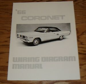 1966 dodge coronet wiring diagram manual 66 ebay rh ebay com
