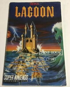 Lagoon-Super-Nintendo-Snes-Players-Strategy-Guide-Hint-Book-Rare-Mail-Away
